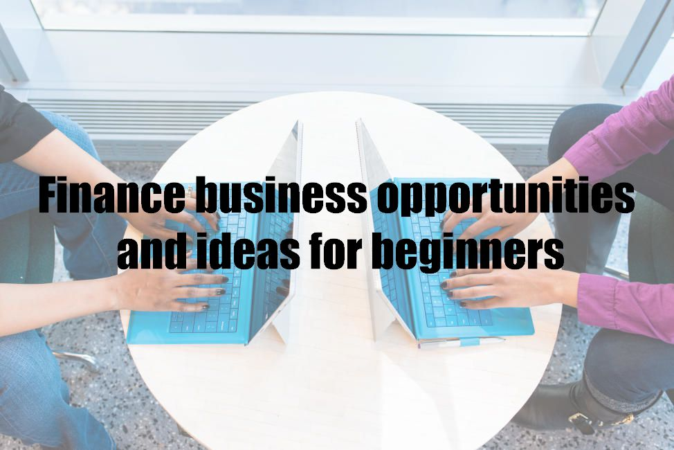 Finance business opportunities and ideas for beginners